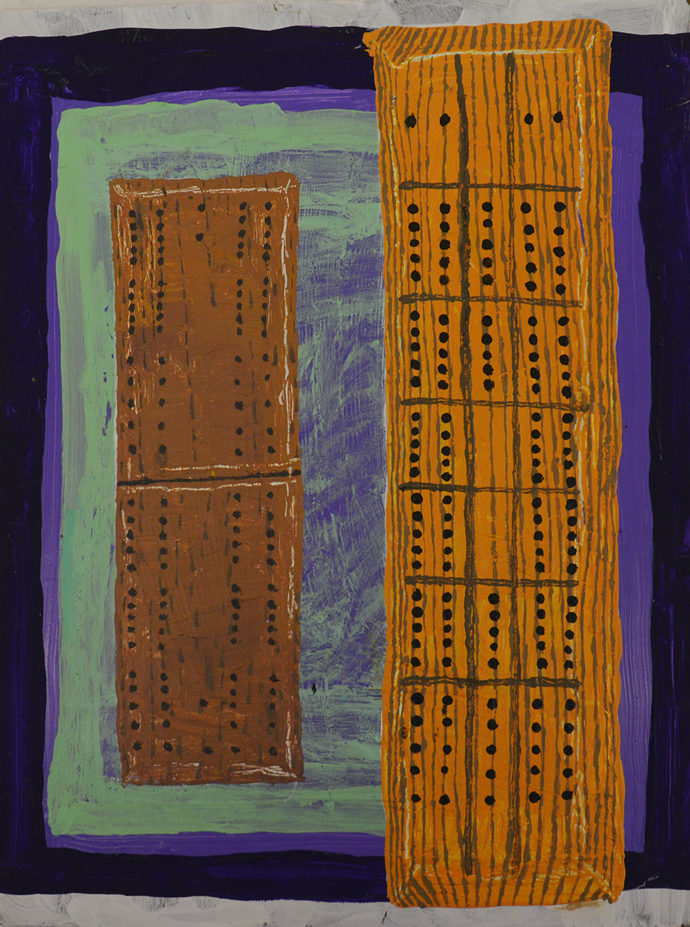 painting of a Cribbage board