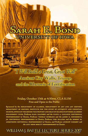 Poster for the Dr Sarah E Bond Lecture