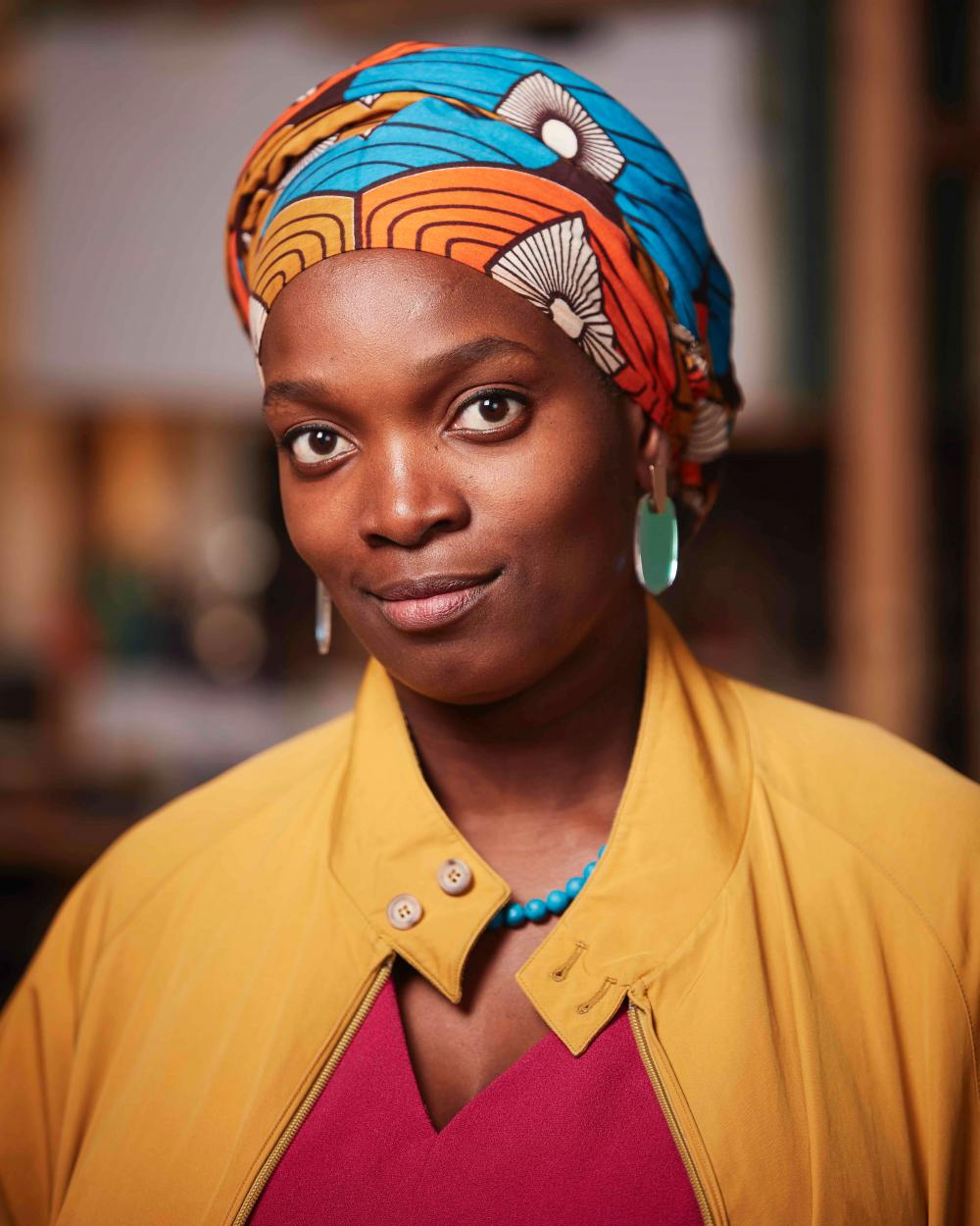 Njideka Akunyili Crosby image associated with her recent appointment to the Studio faculty at the University of Texas at Austin