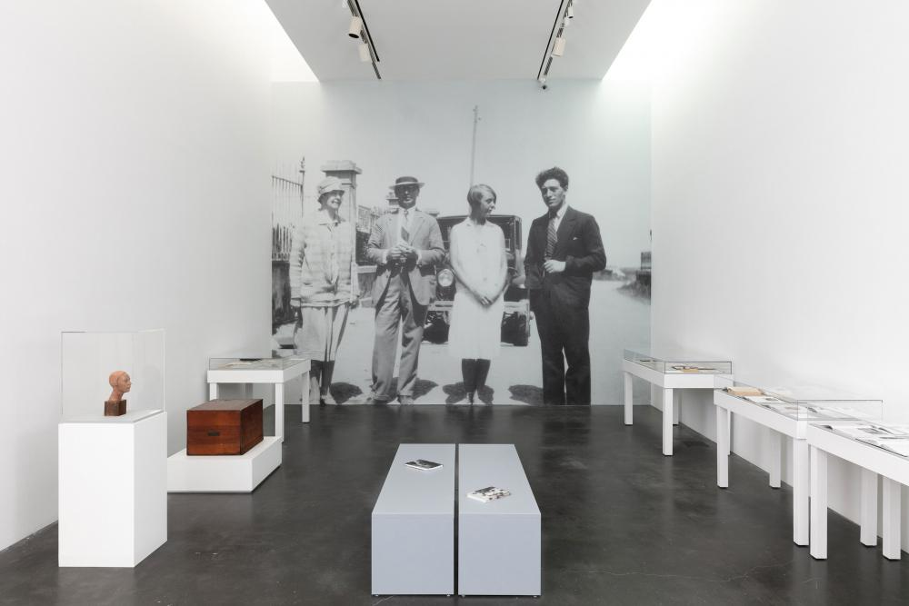 image of installation view of Teresa Hubbard and Alexander Birchler's exhibition at the Museum of Contemporary Art in Denver