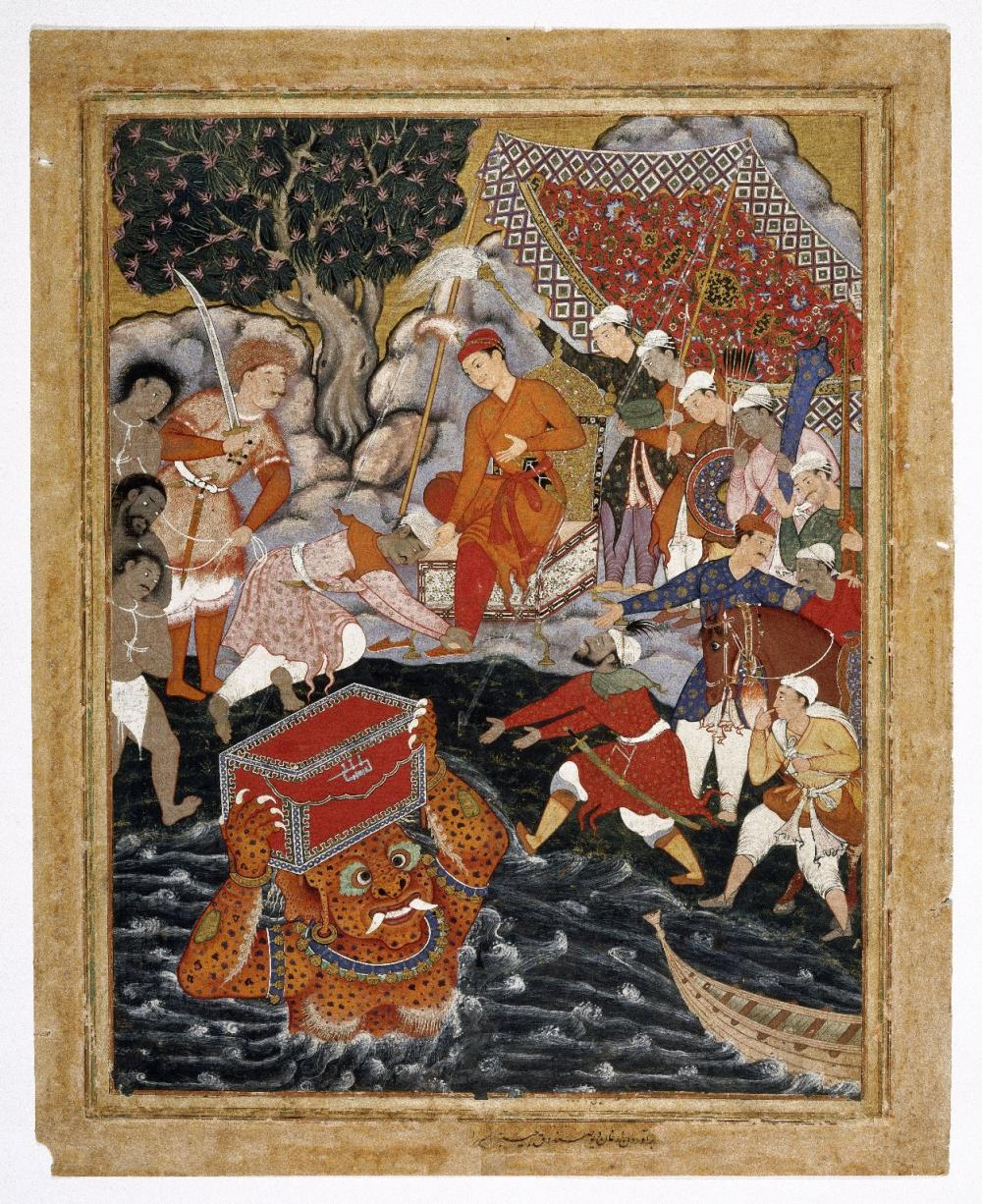 intricate indian painting featuring narrative story