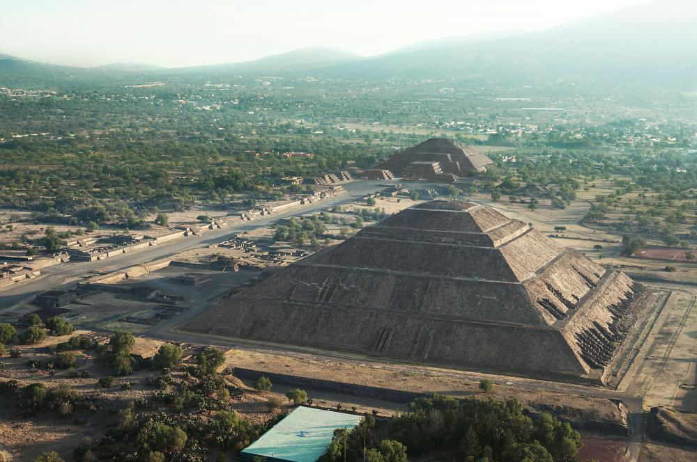 View of Sun Pyramid and Mood Pyramid