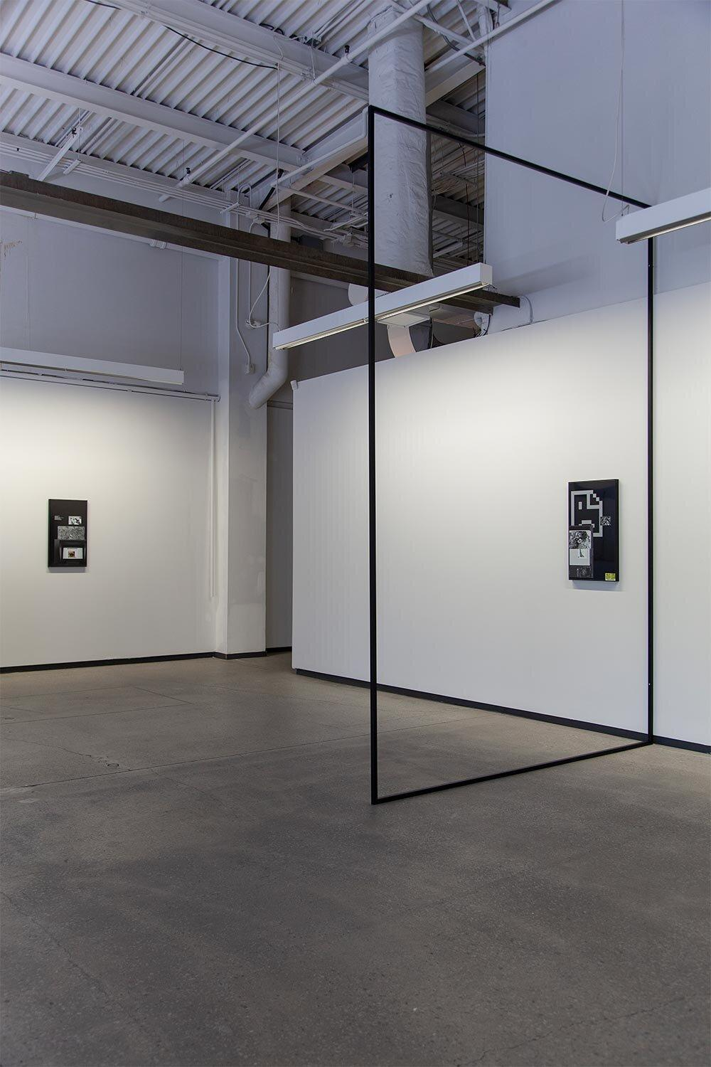 Installation view of Screen Fade at Blouin Division from Matthieu Grenier
