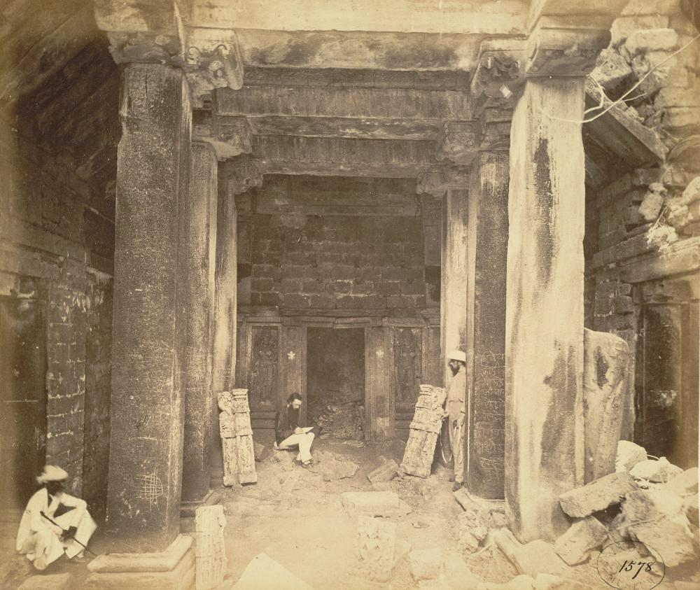 Interior of the Bhimanath Sun Temple taken in 1869