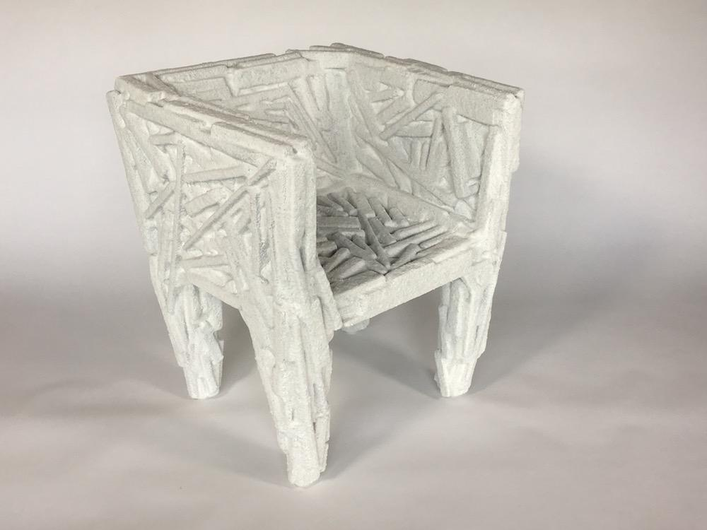 chair made of salt bricks