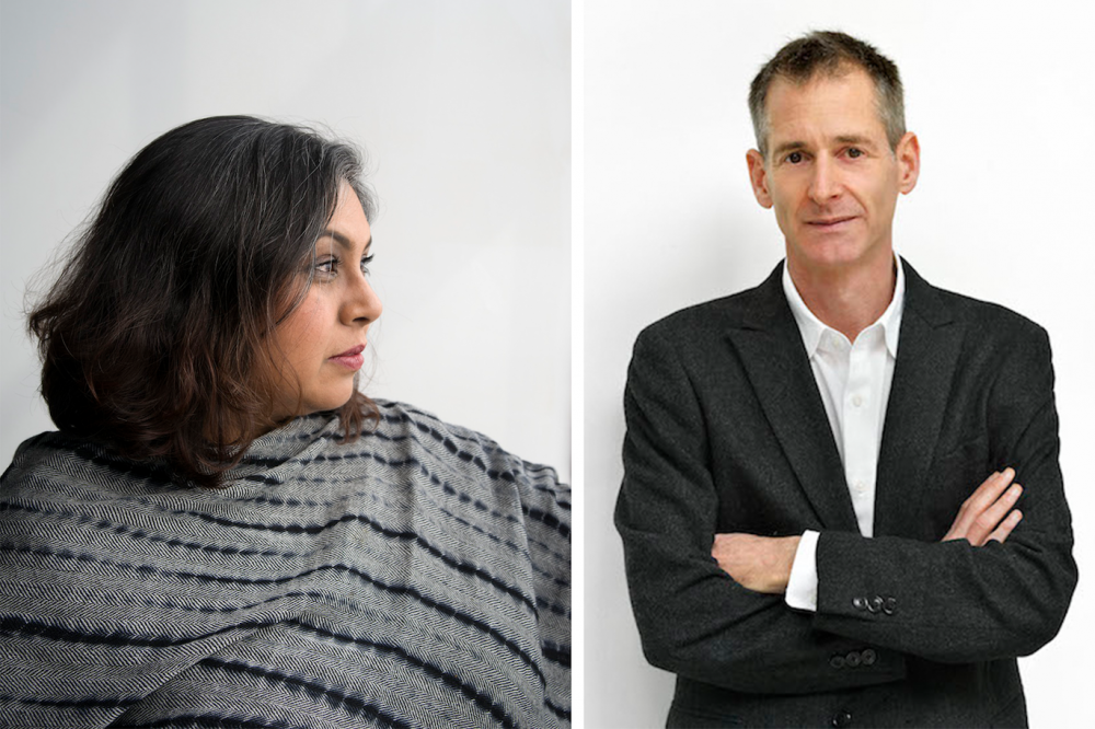 Aruna D'Souza and David Platzker portraits