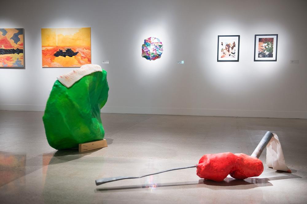 installation view of artwork in gallery