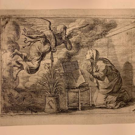 print from an unattributed source at the Blanton Museum of Art in Austin studied by Art History major Natalie Ponder