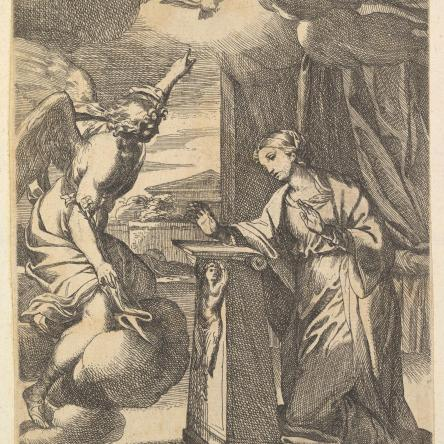Carlo Maratti The Annunciation etching print in The Metropolitan Museum of Art Prints and Drawings Collection.
