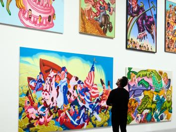 Professor Emeritus in Studio Art at The University of Texas at Austin is exhibiting a five decade retrospective at the New Museum in New York reviewed by NYT