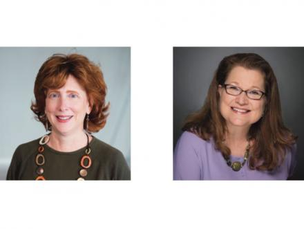 Portraits of Art Education faculty members professors Christina Bain and Donalyn Heise