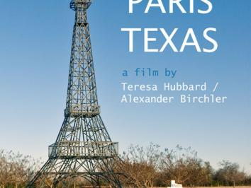 poster design for the teresa hubbard and alexander birchler film Grand Paris Texas