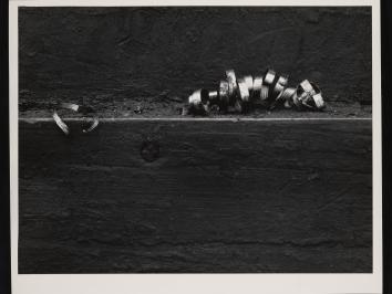 Prints by photographer Aaron Siskind have been generously donated to the Harry Ransom Center by Adam and Susan Finn, including Chicago Scrapyard 2, 1948.