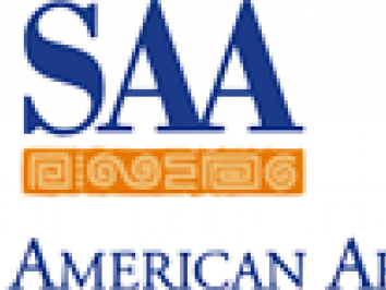 SAA logo of blue and gold type