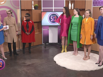 UT Studio Art Lecturer and color theorist Luanne Stovall on television station KXAN to discuss psychology of color in fashion