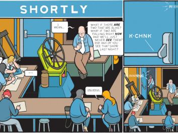 panel from a graphic novel by UT alumnus Chris Ware called Rusty Brown