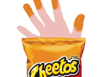 Erica Henri a student in Kristin Lucas Expanded Media course at the University of Texas at Austin created Cheeto fingers emoji