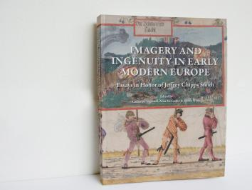 book leaned up against a wall with the title Imagery and Ingenuity in early modern europe