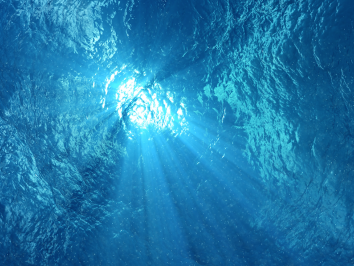 film still of image mimicking underwater perspective
