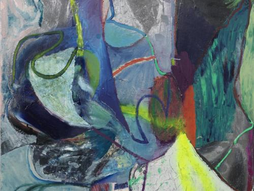 Molly Zuckern Hartung Painting called Chlorophyll Bluess