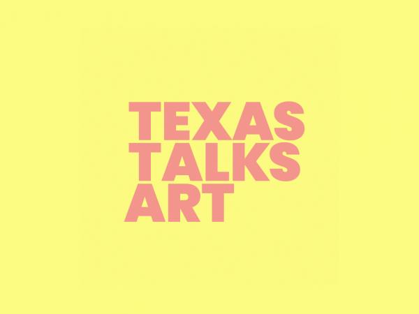 typographic logo avatar for new statewide Texas conversation series between artists and curators in leading Texas institutions called Texas Talks Art