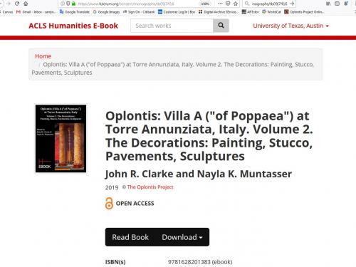 ACLS image of e-book publication of John R. Clarke's Oplontis A