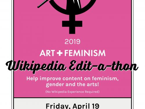 poster with text for art and feminism event