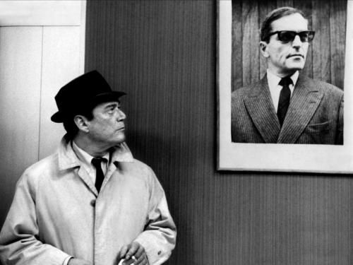 film Stil from the movie Alphaville by Jean-Luc Godard being screened in October at the UT Austin Visual Arts Center as part of a free artist film series