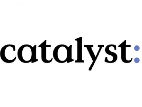 word catalyst on white background