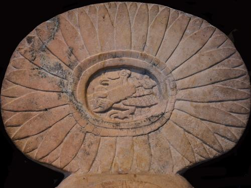 Artifact depicting Owl Striker from ancient Maya history to be discussed in a lecture from Dr. David Stuart at UT Austin