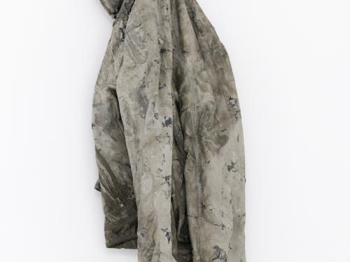 jean jacket dipped in concrete for artist Nikita Gale sculpture