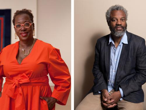 Virginia Museum of Fine Art's Valerie Cassel Oliver and LAX Art's Director Hamza Walker portraits on behalf of the University of Texas at Austin's 2020 Spring Viewpoint Lecture Series at the Department of Art and Art History thumbnail image