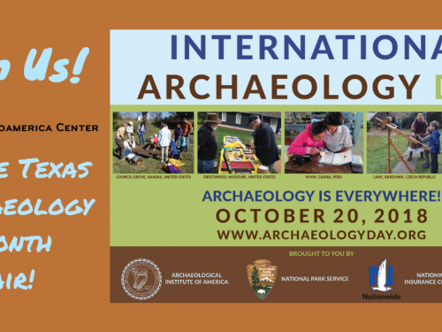event poster for archaeology day 2018